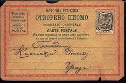 ROUMELIE ORIENTALE - 1885 - Entier Postal - Timbre De Bulgarie Du Sud N° 9 B, Dentelé 13.5 Avec La Surcharge III - - Roumélie Orientale