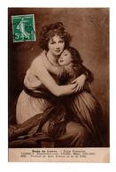 """ART . TABLEAU . ÉLISABETH-LOUISE VIGÉE . """" PORTRAIT DE Mme LEBRUN ET SA FILLE """" . MUSÉE DU LOUVRE PARIS - Réf. N°18998 - - Pittura & Quadri"""
