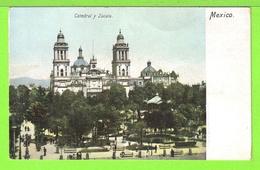 MEXICO / CATEDRAL Y ZOCALO / Tarjeta Virgen - México