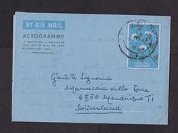 Pakistan: Stationery Aerogramme To Switzerland, 1969, Flowers (traces Of Use) - Pakistan
