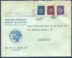 Portugal Radio Marconi Airmail Cover - Argus Press Agency, Geneva Switzerland - 1910-... Republic