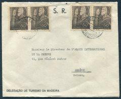 1949 Portugal Funchal Delegacao De Tourismo Da Madeira Cover - Argus Press Agency, Geneva Switzerland - 1910-... Republic