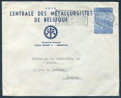 1949 Belgium Centrale Des Metallurgistes De Belgique Cover - Argus Press Agency, Geneva Switzerland - Belgium