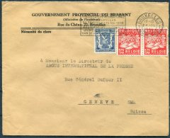 1949 Belgium Gouvernment Povincial Du Brabant, Ministere De L'Interieur Cover - Argus Press Agency, Geneva Switzerland. - Belgium