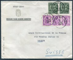 1949 Belgium Stad Gent Museum Voor Schone Kunsten Cover - Argus Press Agency, Geneva Switzerland. Fine Art - Belgium
