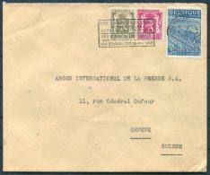 1949 Belgium Bruxelles Universite Libre Cover - Argus Press Agency, Geneva Switzerland. - Belgium