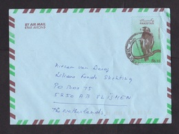 Pakistan: Stationery Airmail Cover To Netherlands, 1990s, Eagle Bird (traces Of Use) - Pakistan