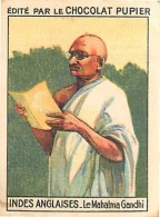 PU3      INDES  ANGLAISES  MAHATMA  GANDHI  .ASIE INDIA INDE.7 X 5 Cm Chromo Chocolat Tradecard - Vieux Papiers