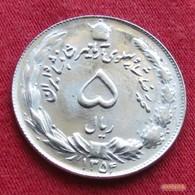Iran 5 Rials 1975 SH 1354 KM# 1176 Lt 255 Irão Persia Persien - Iran