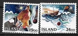 Islande 1988 N° 648/649 Neufs Noël - 1944-... Republic
