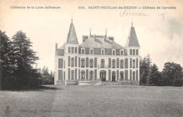 44-SAINT NICOLAS DE REDON-CHÂTEAU DE CAVARDIN-N°503-G/0007 - Francia