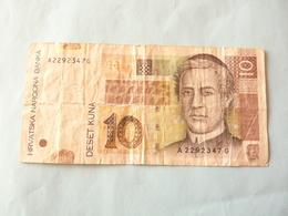 A  Vendre 1 Billet De  Croatie 10 Kuna  Tout Petit Prix De Départ - Croatie