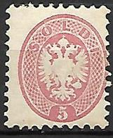 LOMBARDO - VENETIE   -   1864 .  Y&T N° 25 * - Lombardo-Vénétie