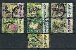 SELANGOR - N° 105 à 111 -  Papillons - O - Malaysia (1964-...)