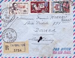 Lettre Recommandée 1959 Capbreton Landes Douala Cameroun - Frankrijk