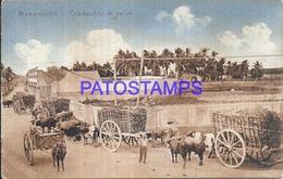101848 CUBA MANZANILLO COSTUMES CONDUCCION DE CAÑAS CART A COW POSTAL POSTCARD - Postcards