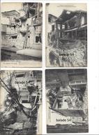 4 CPA - CHALONS-sur-MARNE (51)  Bombardé Guerre 1914-1918 - Maison éventrée Rue Saint Jacques - Châlons-sur-Marne