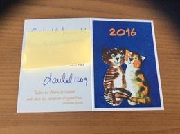 Calendrier 2016 «Artistes Peignant De La Bouche Et Du Pied - (chats)/ Citation Proverbe Chinois» - Calendriers
