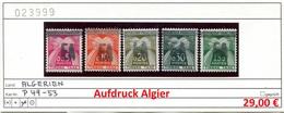 Algerien - Algerie - Algeria - Michel Porto / Taxe 49-53 (Algier-Aufdruck) - ** Postfrisch Mnh Neuf Postfris - Algerien (1962-...)