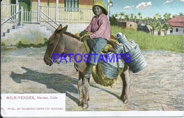 101850 CUBA HAVANA COSTUMES NATIVE MILK SELLER POSTAL POSTCARD - Postcards