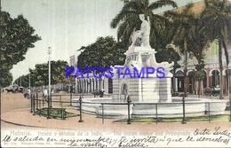 101851 CUBA HAVANA PASEO Y ESTATUA DE LA INDIA POSTAL POSTCARD - Postcards