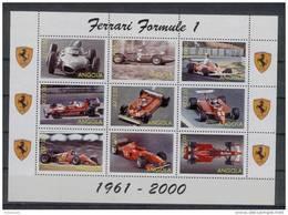 Angola - Serie Completa Nuova In Foglietto: Automobili Ferrari Da Formula 1 - Angola