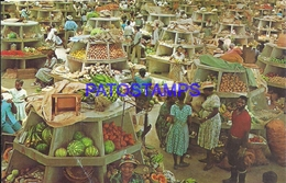 101852 CARIBBEAN JAMAICA COSTUMES MARKET MERCADO FRUIT POSTAL POSTCARD - Postcards