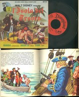 DISCO VINILE DISNEYLAND 1973 -WALT DISNEY PRESENTA L'ISOLA DEL TESORO +LIBRO ILLUSTRATO - Bambini