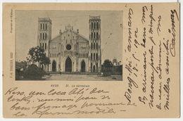 Keso 21 La Cathedrale Precurseur Edit Schneider Hanoi Vers La Guerche Aubois Cachet Dong Hoi Tourane 1902 - Viêt-Nam