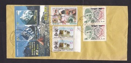 Pakistan: Registered Cover To Spain, 2001, 7 Stamps, Imperforated Souvenir Sheet, K2 Mountain, Women (traces Of Use) - Pakistan