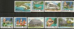 Le Tourisme Aux  îles Samoa . 9 Timbres Neufs ** - Samoa