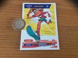 """Carte PITCH TOUR DU MONDE DES SPORTS (ATHLÉTISME 100m) """"JESSE SPRINT Nº41"""" - Autres Collections"""