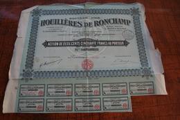 Houillères De Ronchamp - Actions & Titres