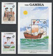 GAMBIE 1988  N° 734/735 Bloc 53** Neufs MNH Superbes C 10 € Voiliers Colomb Vasco De Gama Bateaux Sailboats Transports - Gambie (1965-...)