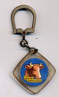 """{09875} Porte-clef """" La Vache Grosjean """"       """" En Baisse """" - Key-rings"""
