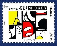 FRANCE 2018. Mickey 90 Ans D'enthousiasme. Neuf**. Cinéma, Film, Movie. - Film