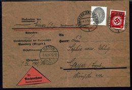 ALLEMAGNE - 1934 - Affr. Timbres De Service à 32 Pf Sur Enveloppe Contre Remboursement De Annaberg Pour Geyer - B/TB - - Allemagne