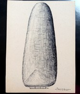 Drawing  Ink, Sketch Of Archaeological Prehistoric Find - Stone Blade, ''Riahovci (city)'' - 1970's - Disegni