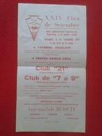 SPAIN AÑO 1977 OLD ANTIGUO PEQUEÑO CARTEL POSTER TENIS DE MESA PING-PONG TABLE TENNIS DEPORTE SPORT CAMPEONATO CATALONIA - Tischtennis