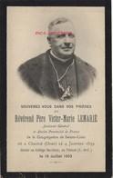 En 1903-photo Révérend Père Victor-Marie Lemarié Faire-part De Décès-né Ceaucé 1839 - Décès