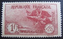 R1692/110 - 1927 - AU PROFIT DES ORPHELINS DE LA GUERRE - N°231 NEUF* Quasi NEUF** - Cote : 63,00 € - France