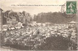 Dépt 71 - AUTUN - Vue Générale De La Place Du Champ-de-Mars Le Jour De La Foire Du 1er Septembre - (vaches) - Autun