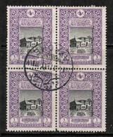 TURKEY  Scott # 348 VF USED BLOCK Of 4 (Stamp Scan # 423) - 1858-1921 Ottoman Empire