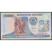 TWN - MOZAMBIQUE 134 - 500 Meticais 16.6.1991 Prefix AA UNC - Mozambico