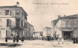 33 - GIRONDE / Podensac - 332454 - Mairie Et Route De Bordeaux - Francia