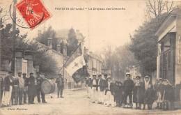 33 - GIRONDE / Portets - 332470 - Le Drapeau Des Conscrits - Beau Cliché Animé - Francia