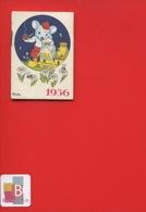 Ravissant Carnet Calendrier 1936  Crème Eclipse Cirage Illustrateur Micho Souris Pipe Ruche Abeille Très Bel état - Calendars
