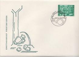 Liechtenstein Stamp On FDC - Agriculture