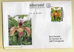 Privatpost - Biberpost - Blumen Orquídeas Orchidée Orchid- Frauenschuh Blüte Auf Brief - Orchideen