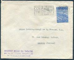 1949 Belgium Bruxelles International Fair, Theatre Institute Cover - Argus Press Agency, Geneva Switzerland - Belgium